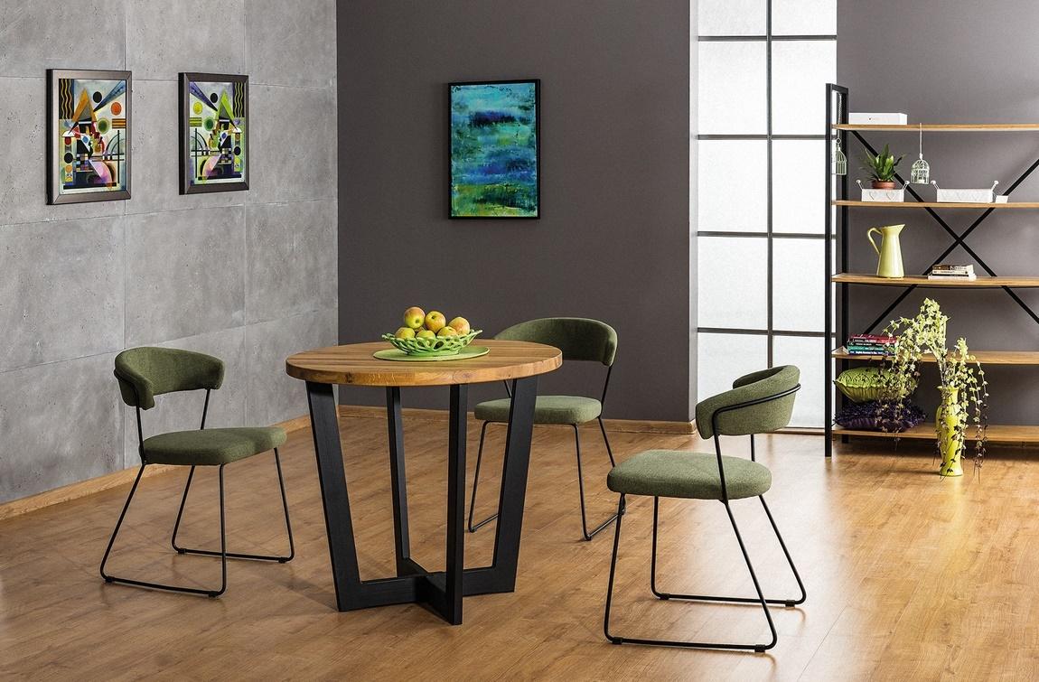 Jedálenská čalúnená stolička HELIX zelená