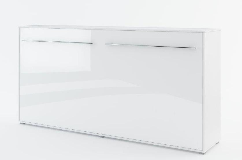 Výklopná postel 140 CONCEPT PRO CP-04P biela lesk/biela mat