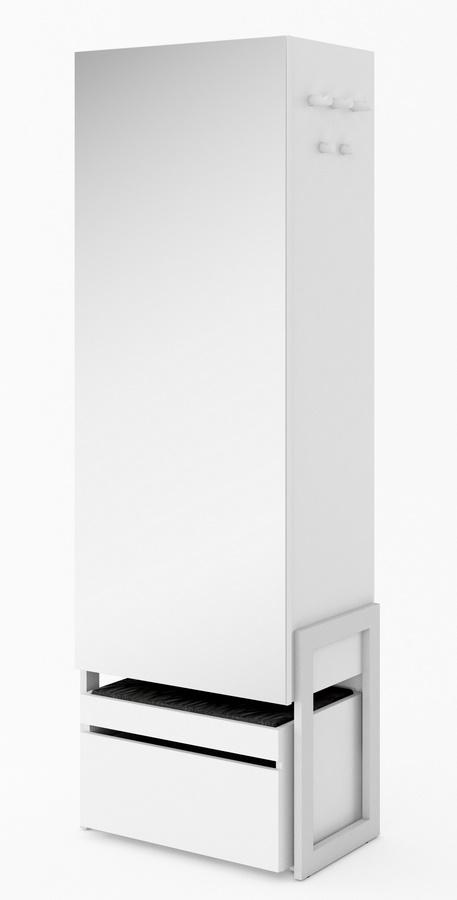šatníková skriňa so zrkadlom k predsieni CLARO biela