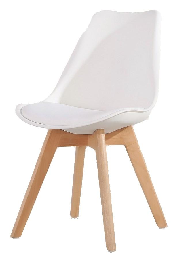 jedálenská stolička CROSS biela
