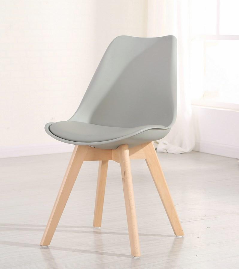 jedálenská stolička CROSS šedá