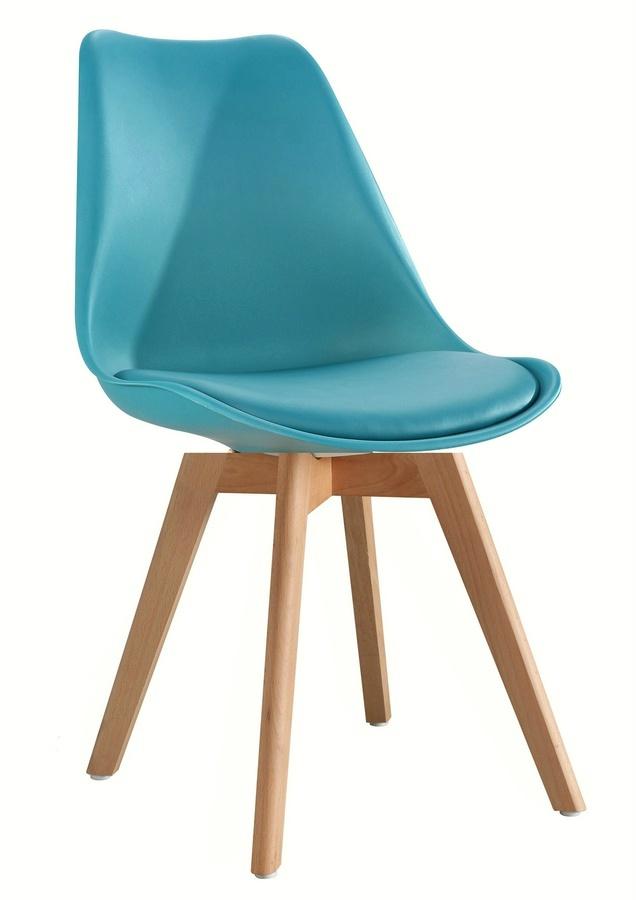 jedálenská stolička CROSS tyrkysová