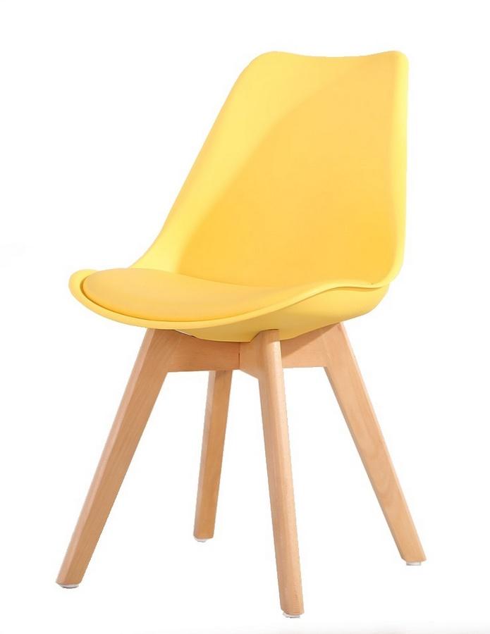 jedálenská stolička CROSS žlutá