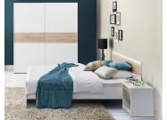 Ložnice WENECJA (skříň, postel, 2ks noční stolek)