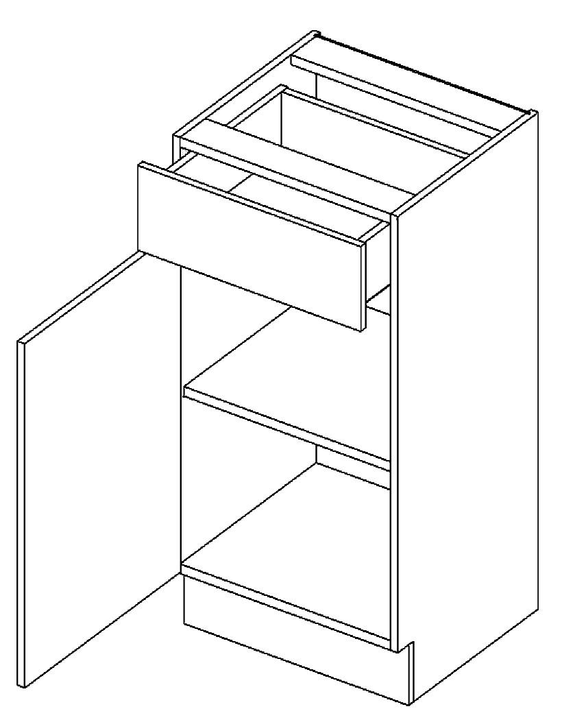 D40/S1 dolní skříňka JOPPA levá picard/bílá