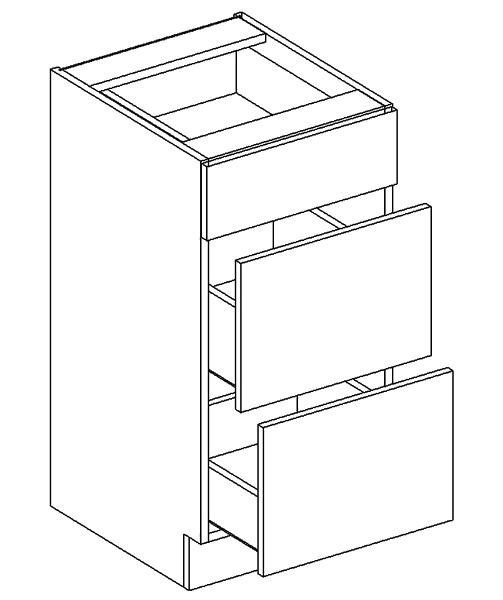 D40/S3 d. skříňka se zásuvkami PAULA bílá mat