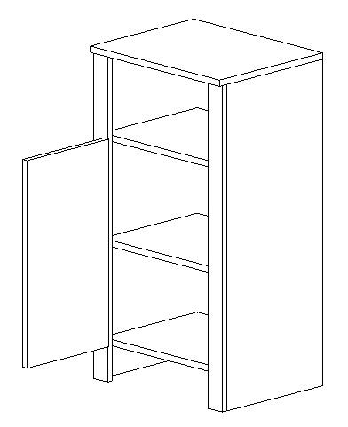 D45 d. skrinka TALIA duglaska/biela lavá