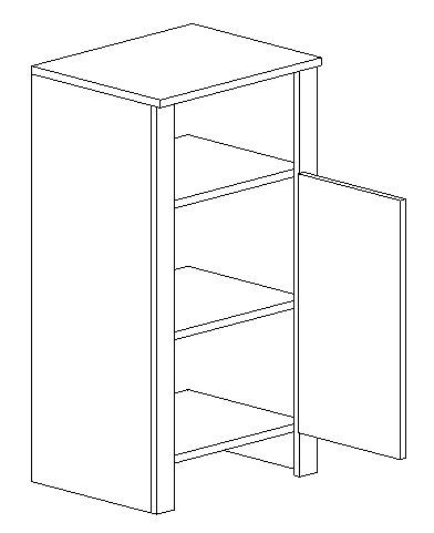 D45 d. skrinka TALIA duglaska/biela pravá