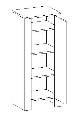 D45SL d. skrinka TALIA duglaska/biela pravá