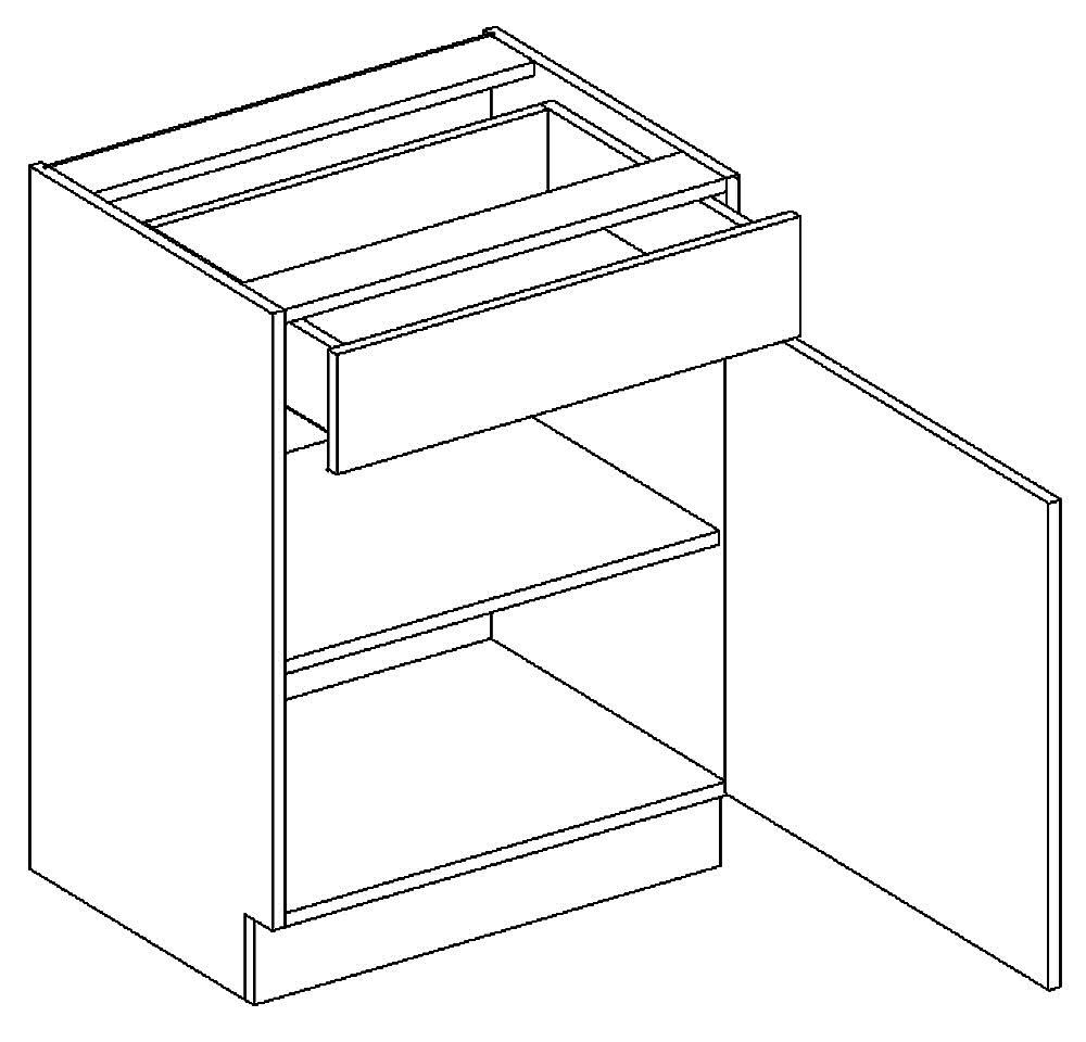 D60/S1 dolní skříňka MIA pravá picard/bílá