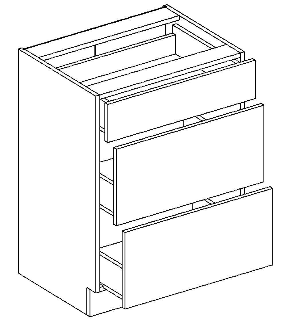D60/S3 d. skříňka se zásuvkami MIA picard/bílá