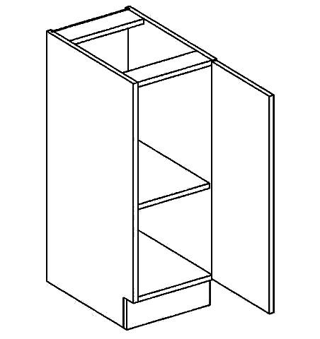 D30P dolní skříňka jednodvéřová GOBI
