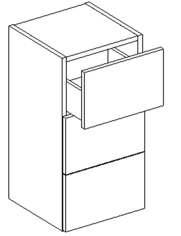 D30S/3 d. skrinka so zásuvkami CORAL viac farieb