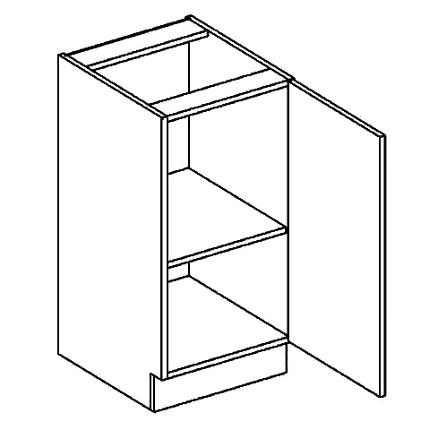 D40 dolní skříňka pravá PAULA šedá/mocca