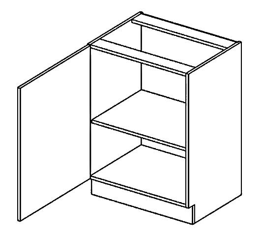 D60 d. skříňka levá PAULA šedá/mocca