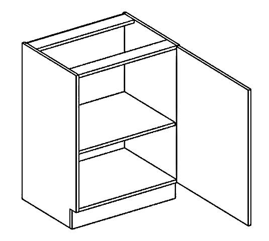 D60 d. skříňka pravá PAULA bílá mat