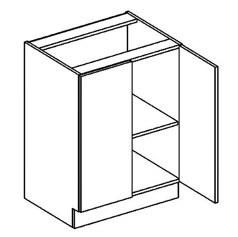 D60 dolní skříňka dvojdvéřová DARK BIS