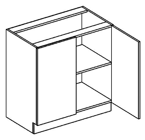 D80 d. skříňka 2-dveřová PAULA bílá mat