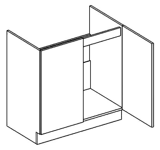D80ZL d. skříňka pod dřez PAULA šedá/mocca