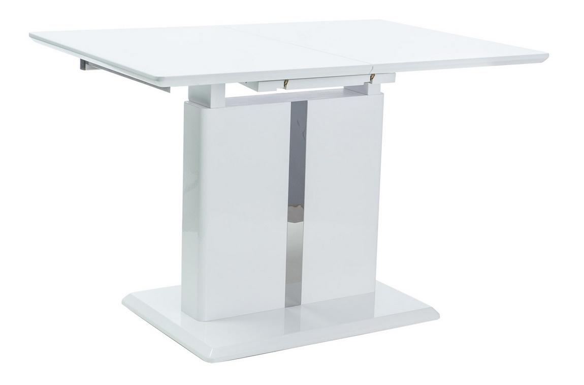 Jedálenský stôl DALLAS rozkládací biely