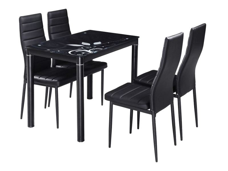 Jedálenský stôl DAMAR čierny