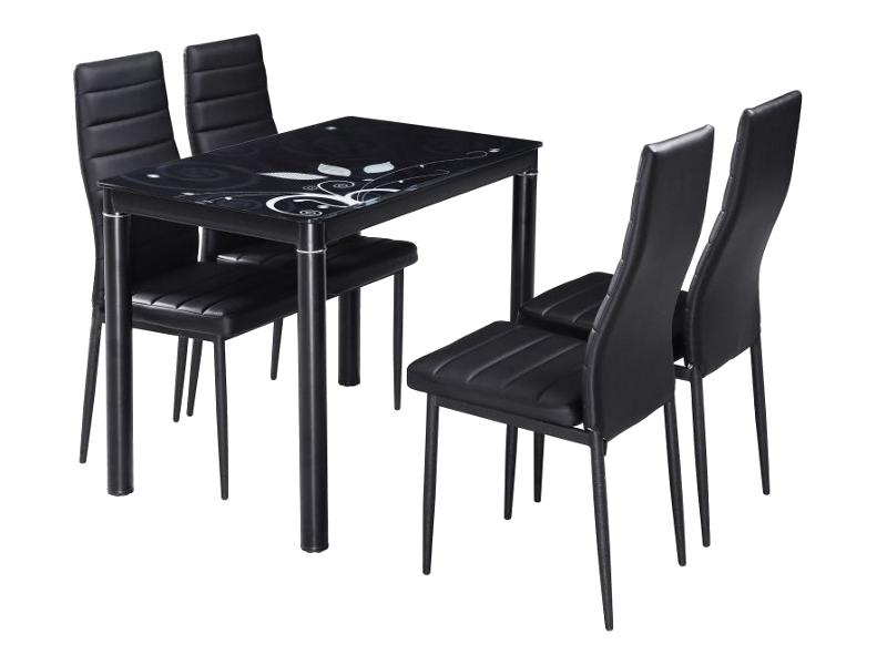 Jedálenský stôl DAMAR 80x60 čierny