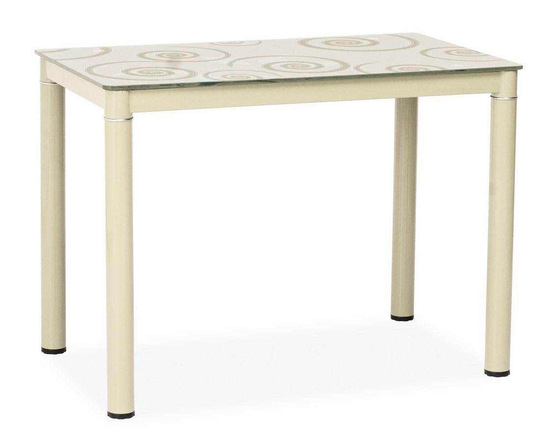 Jedálenský stôl DAMAR krémový