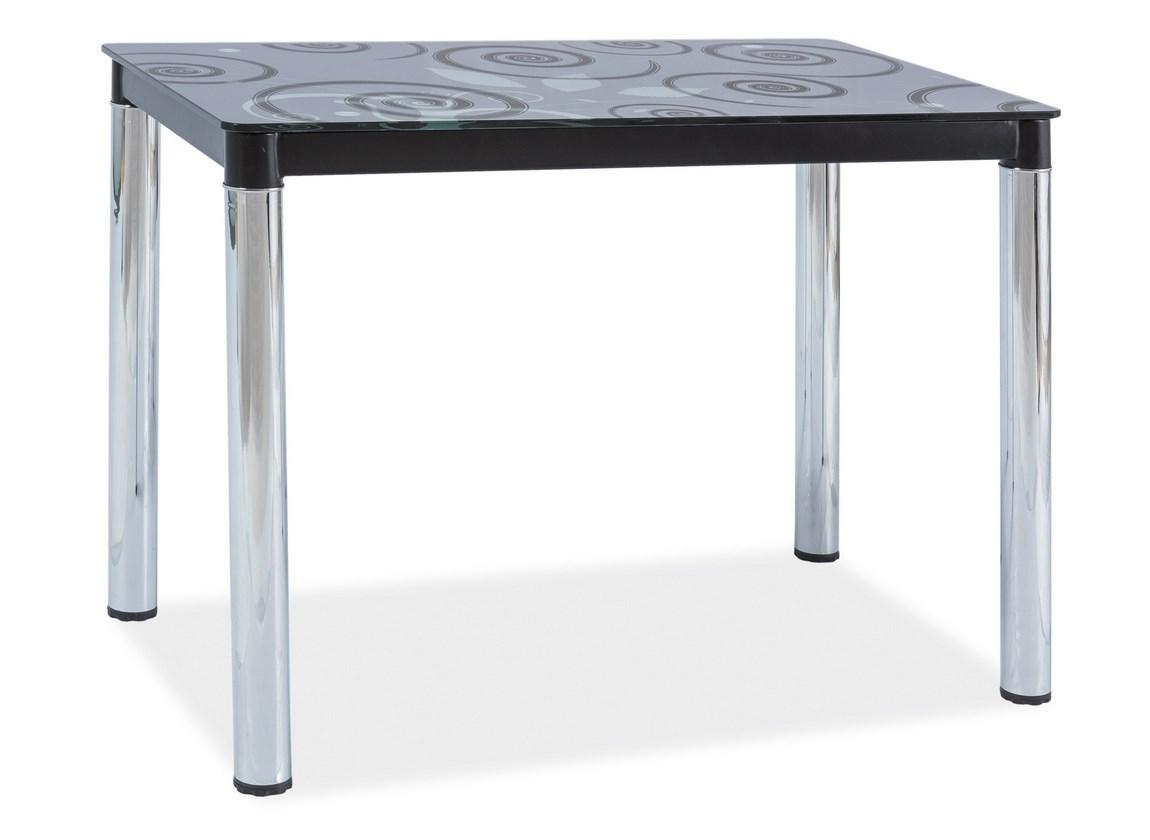 Jedálenský stôl DAMAR II čierna-chrom