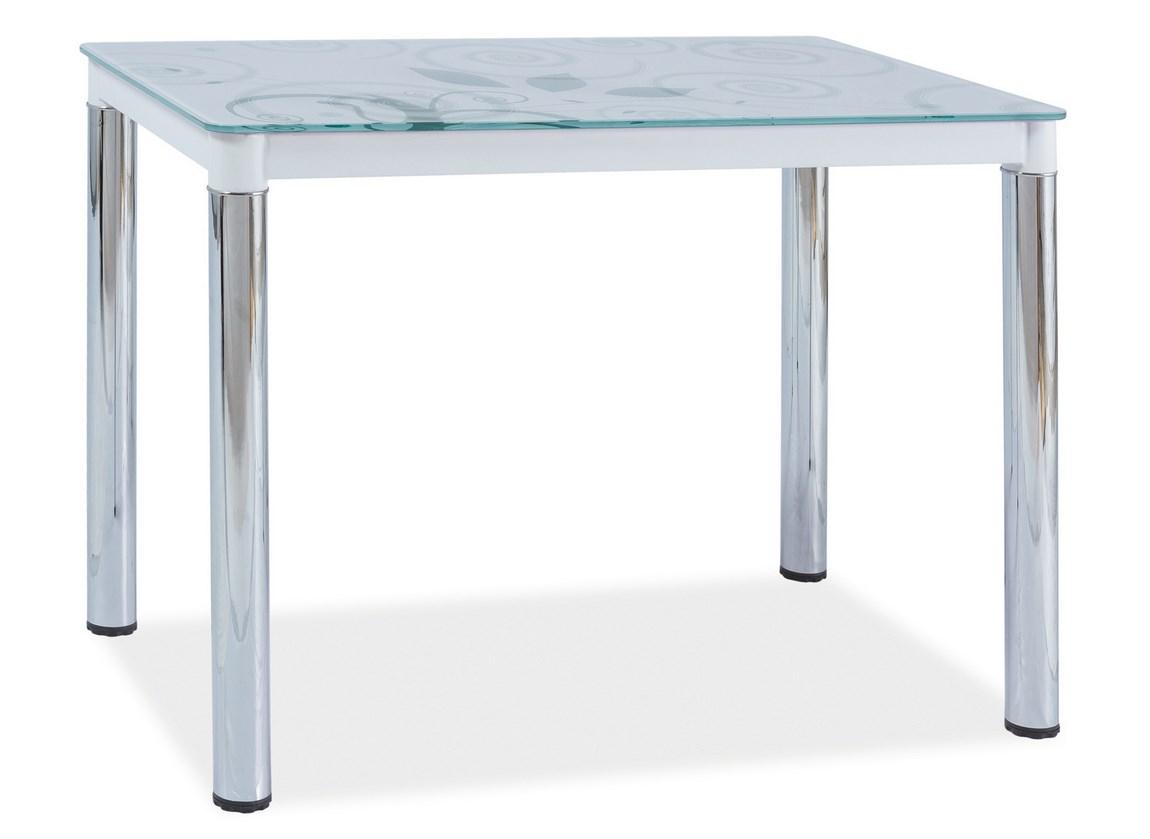 Jedálenský stôl DAMAR II biela-chrom