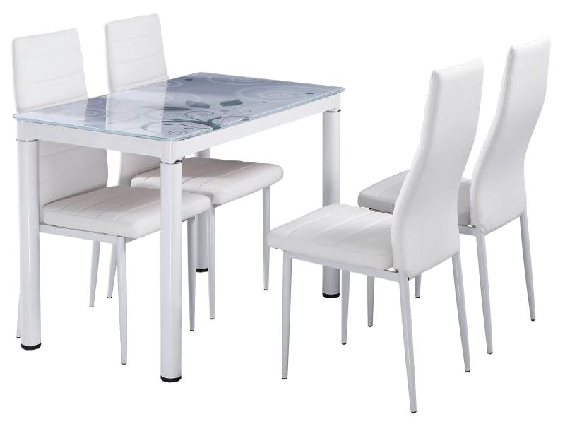 Jedálenský stôl DAMAR 80x60 biely