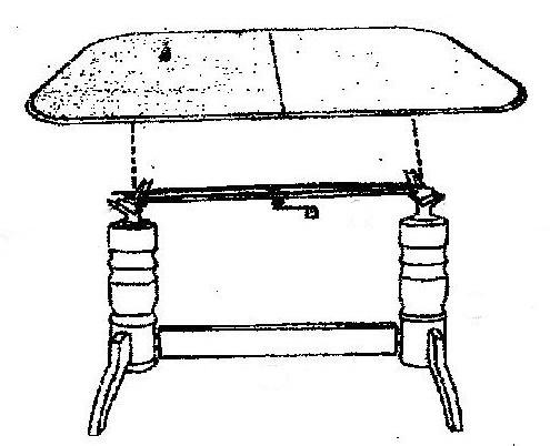 Jedálenský/konferenčný stôll DANIEL rozkladací