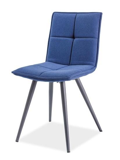 Jedálenská čalúnená stolička DARIO tmavomodrá