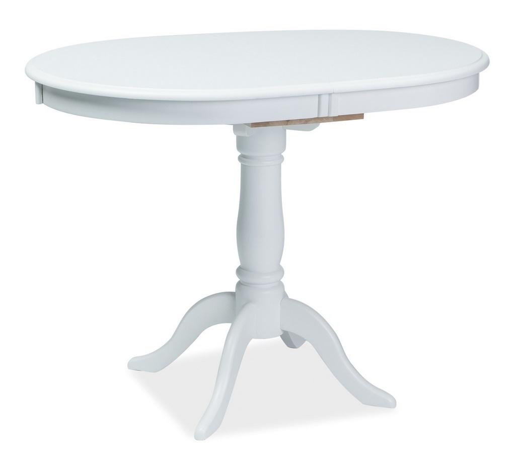 Jedálenský stôl DELLO rozkladací biely
