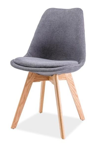 Jedálenská stolička DIOR dub/tmavo šedá