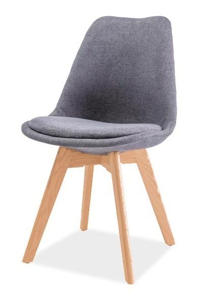 Jedálenská stolička DIOR buk/tmavo šedá