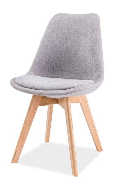Jedálenská stolička DIOR dub/světle šedá