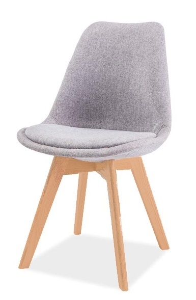 Jedálenská stolička DIOR buk/světle šedá
