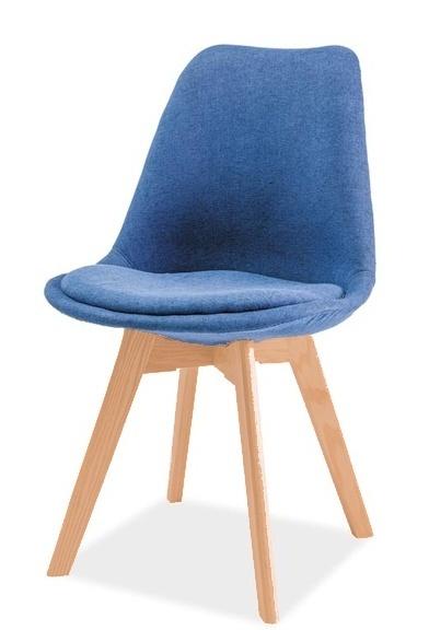 Jedálenská stolička DIOR buk/modrá