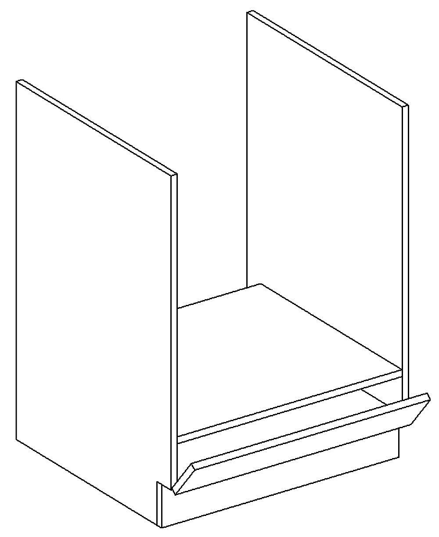 DK60 skříňka na vestavnou troubu PAULA šedá/mocca