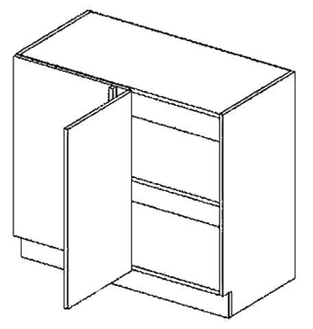 DNPL d. skříňka do rohu rovná COSTA 100 cm