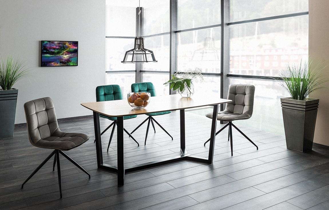 Jedálenská čalúnená stolička TEXO zelená