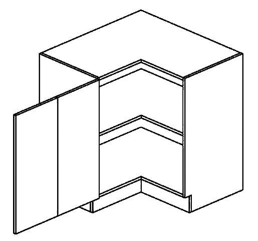 DRPL dolní skříňka rohová POSNANIA 90x90 cm