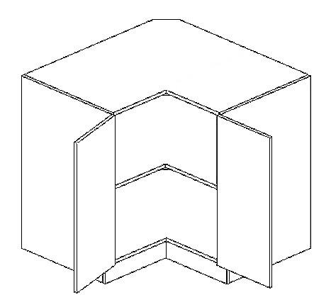 DRP dolní rohová skříňka PAULA bílá mat