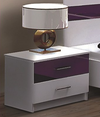 nočný stolík DUBAJ fialový