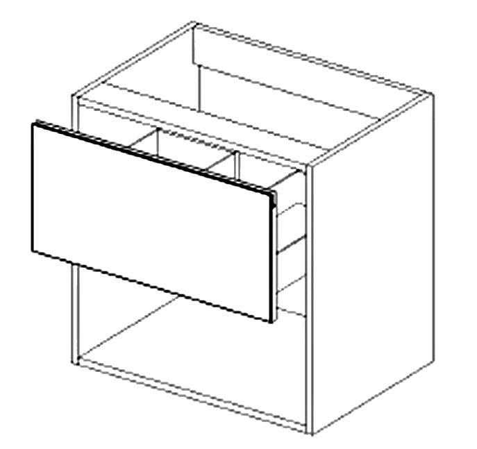 DUM60S/1 d. skrinka pod umyvadlo ARUBA sonoma/biela