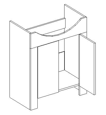 DUM skrinka pod umyvadlo TALIA akácie/vanilka