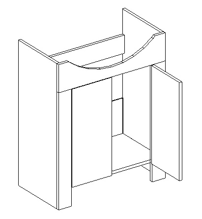 DUM skrinka pod umyvadlo TALIA duglaska/biela