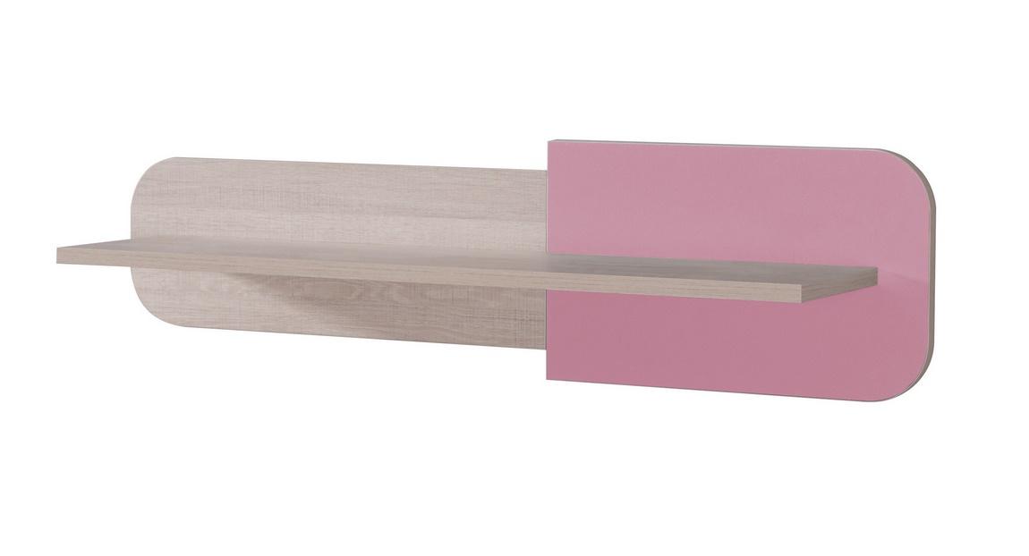 DUO D7 polica santana/ružová