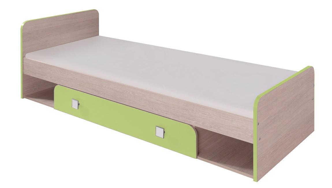*DUO D9 postel 80x200 cm santana/zelená