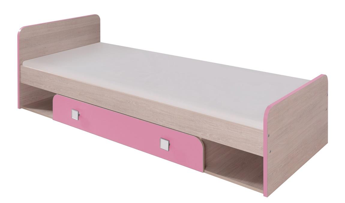 DUO D9 postel 80x200 cm santana/ružová